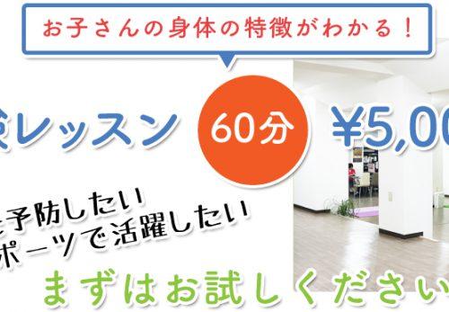 体験レッスン60分5,000円